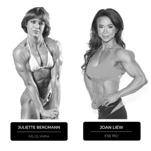 IFBB PRO Joan Liew and Juliette Bergmann